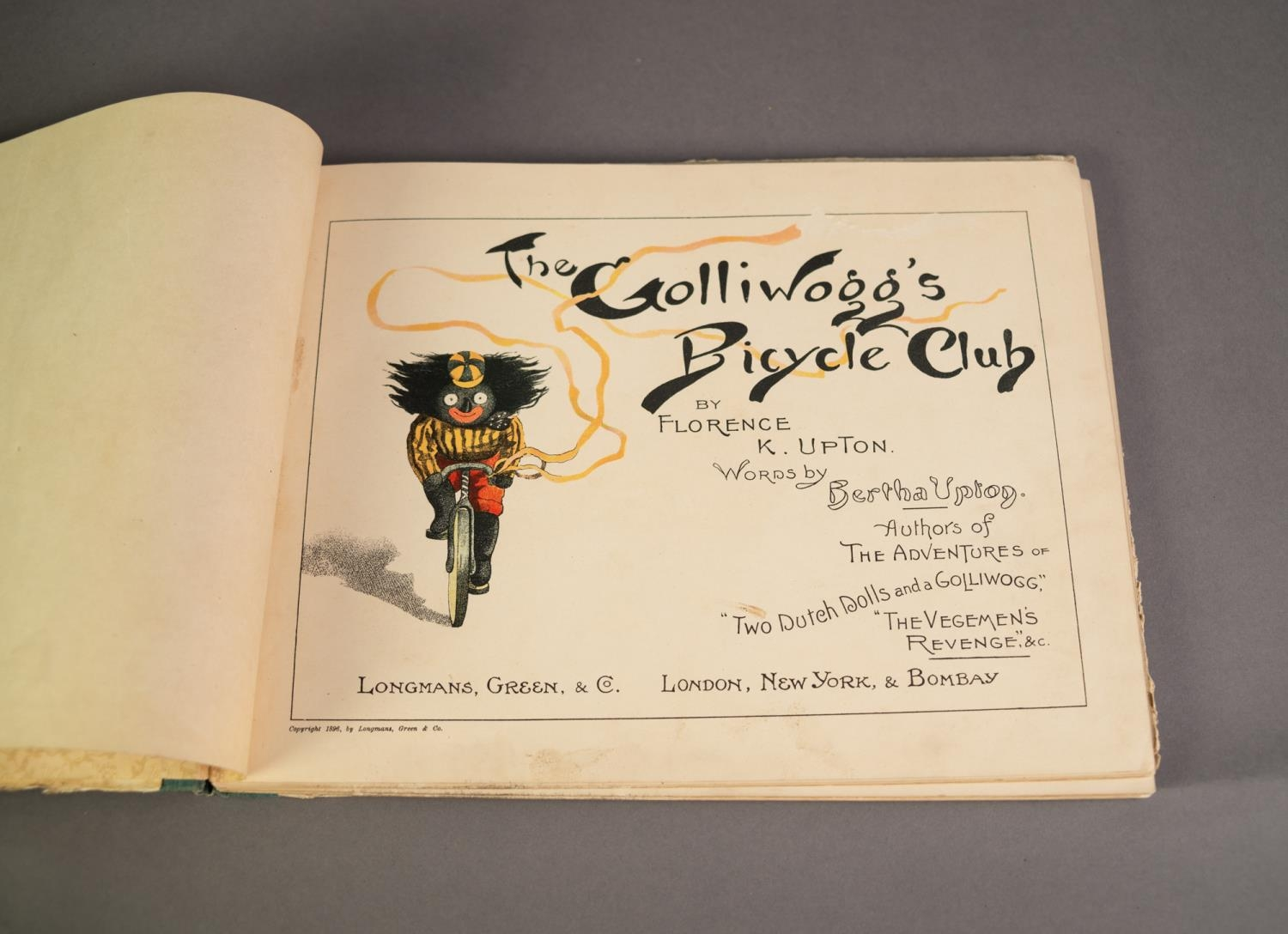 Florence K Upton- The Golliwogg?s Bicycle Club, words by Bertha Upton, pub Longmans Green and Co, - Image 2 of 4