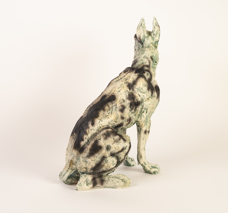 APRIL SHEPHERD (TWENTIETH/ TWENTY FIRST CENTURY) LIMITED EDITION RESIN MODEL OF A DOG ?On Guard?, ( - Image 2 of 2