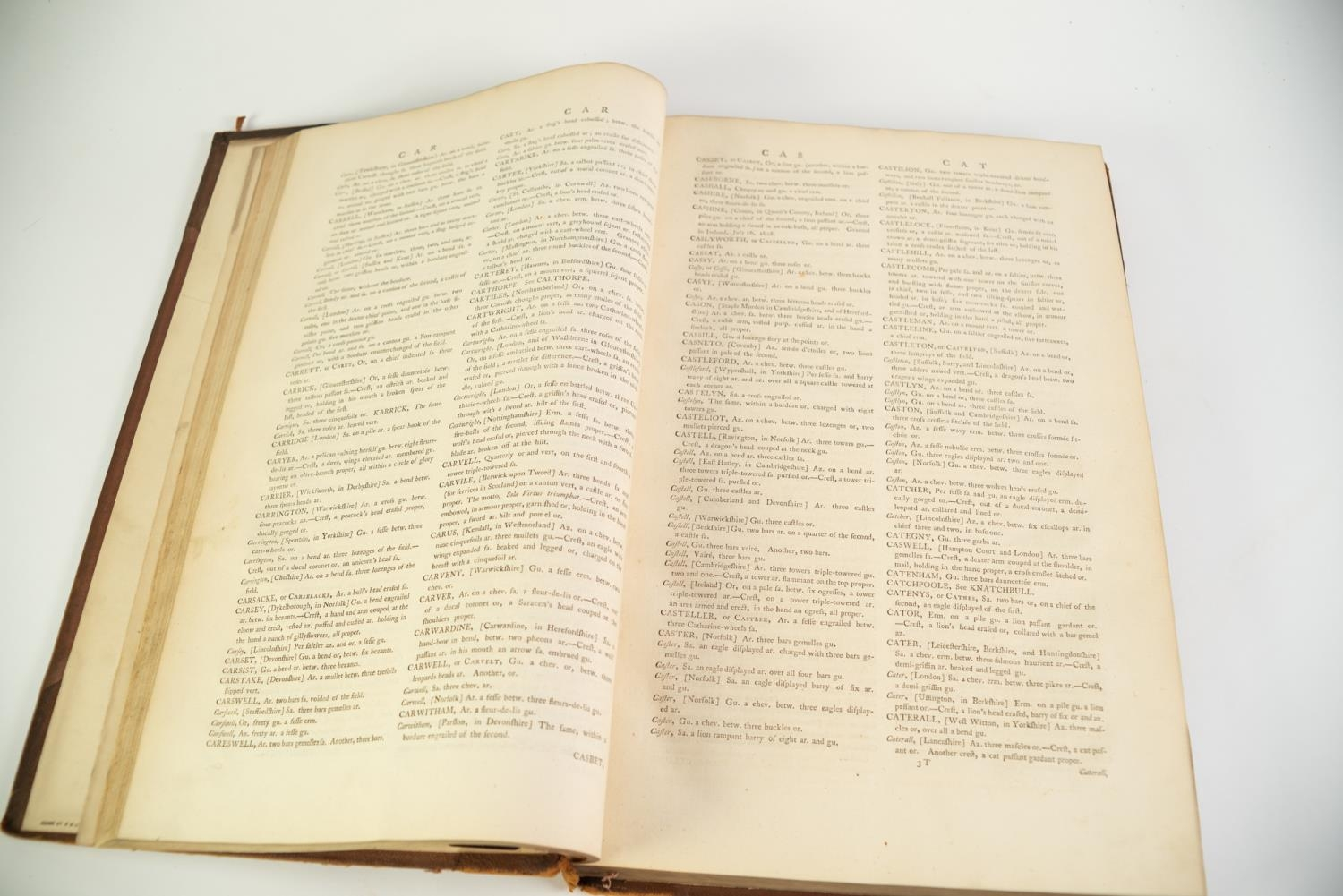 Joseph Edmondson- A Complete Body of Heraldry, 2 vol, folio, London, printed for the Author by T - Image 4 of 7