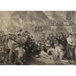 JAMES HEATH AFTER BENJAMIN WEST ENGRAVING ?The Death of Lord Viscount Nelson K.B? 17? x 23 ½? (43.
