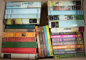 A quantity of Georgette Heyer Romance and Historical titles, many 1st Edition examples with dust
