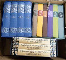 FOLIO SOCIETY. Robin Lane Fox Pagans and Christians, 3 vol set, 2010. Thomas Hardy- The Wessex