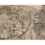 JULIET DE GAYE (1930-2012) ARTIST SIGNED LIMITED EDITION PRINT ?West Riding Feast?, (19/150) 21? x