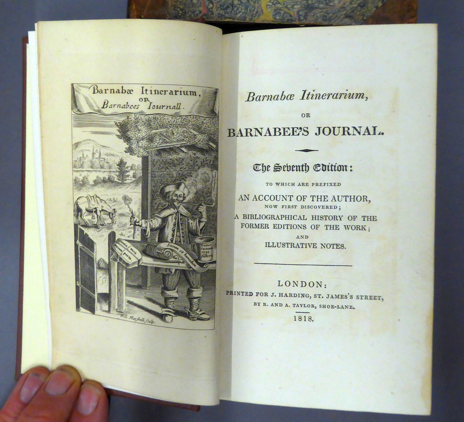 Barnabae Itinerarium, or Barnabee?s Journal, seventh edition, printed Harding, Taylor, 1818, rebound - Image 2 of 4