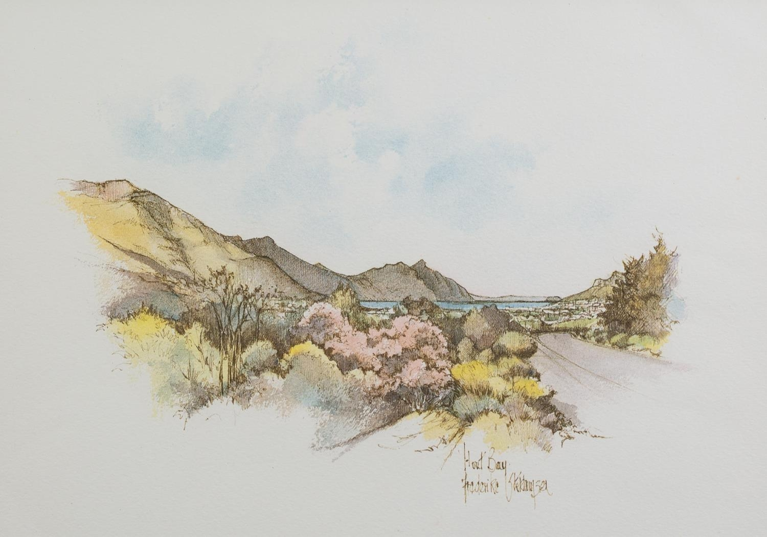 FREDERIKE STOKHUYZEN (b.1938) PEN AND WASH DRAWING ?View from the Coach House? Signed, titled and - Image 2 of 3
