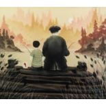 *MACKENZIE THORPE (b.1956) ARTIST SIGNED LIMITED EDITION COLOUR PRINT ?All our Yesterdays?, (55/