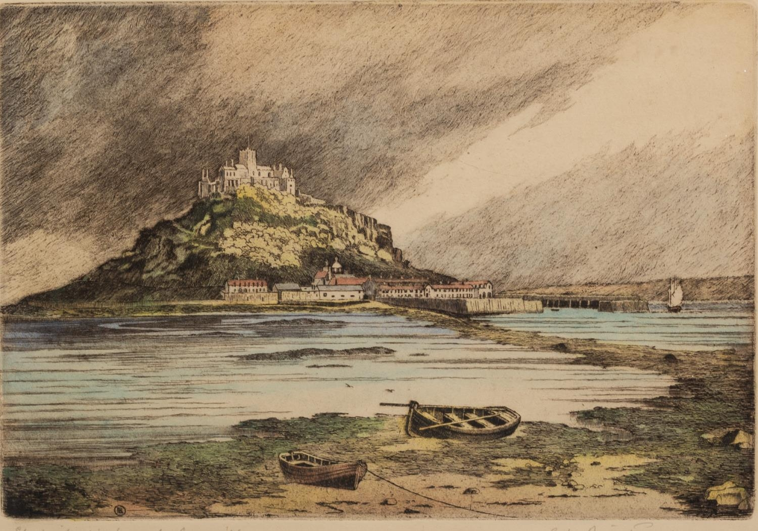 ROBERT LINNELL ARMITAGE (1898-?) FOUR ARTIST SIGNED ETCHINGS ?St. Michael?s Mount, Cornwall?,