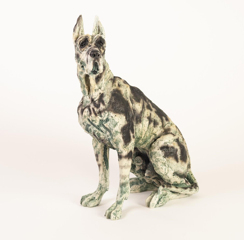 APRIL SHEPHERD (TWENTIETH/ TWENTY FIRST CENTURY) LIMITED EDITION RESIN MODEL OF A DOG ?On Guard?, (