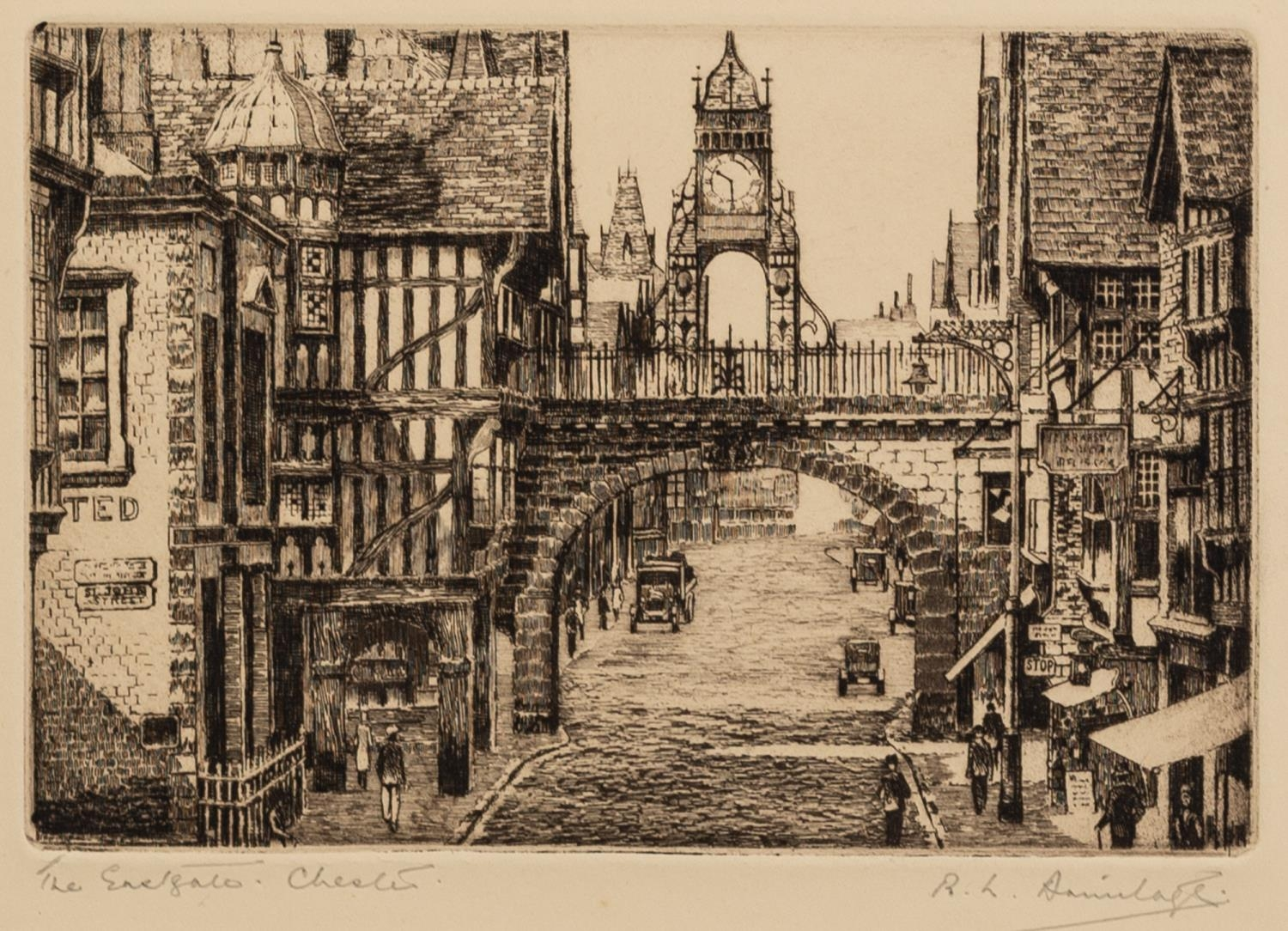 ROBERT LINNELL ARMITAGE (1898-?) FOUR ARTIST SIGNED ETCHINGS ?St. Michael?s Mount, Cornwall?, - Image 3 of 6