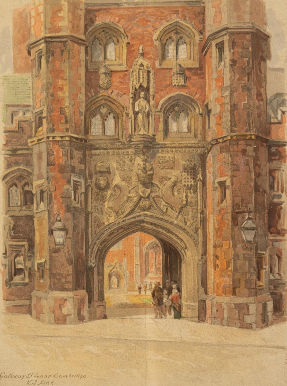 W. BRAITHWAITE (Twentieth Century) PEN AND BROWN INK DRAWING 'Holy Trinity Church, Micklegate, - Image 2 of 3