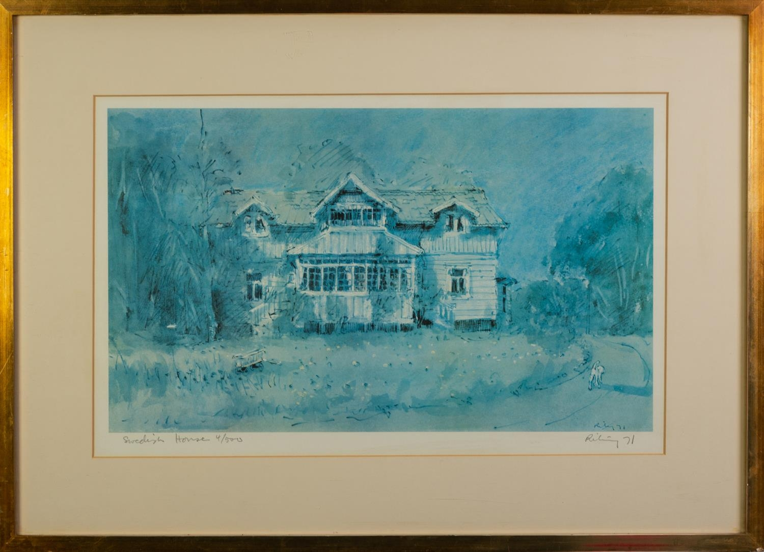 HAROLD RILEY (b.1934) ARTIST SIGNED LIMITED EDITION COLOUR PRINT ?Swedish House?, (4/500) 11 ¼? x - Image 2 of 2