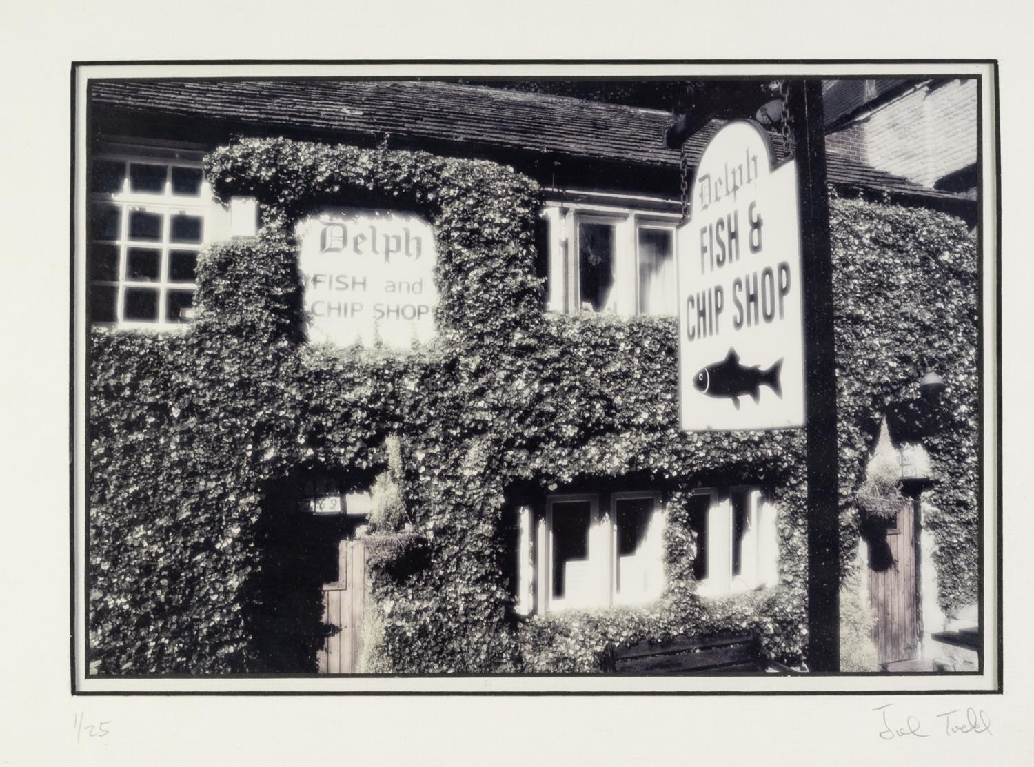 JOHN TODD TWO ARTIST SIGNED LIMITED EDITION PHOTOGRAPHIC PRINTS Delph Fish & Chip Shop, (1/25),