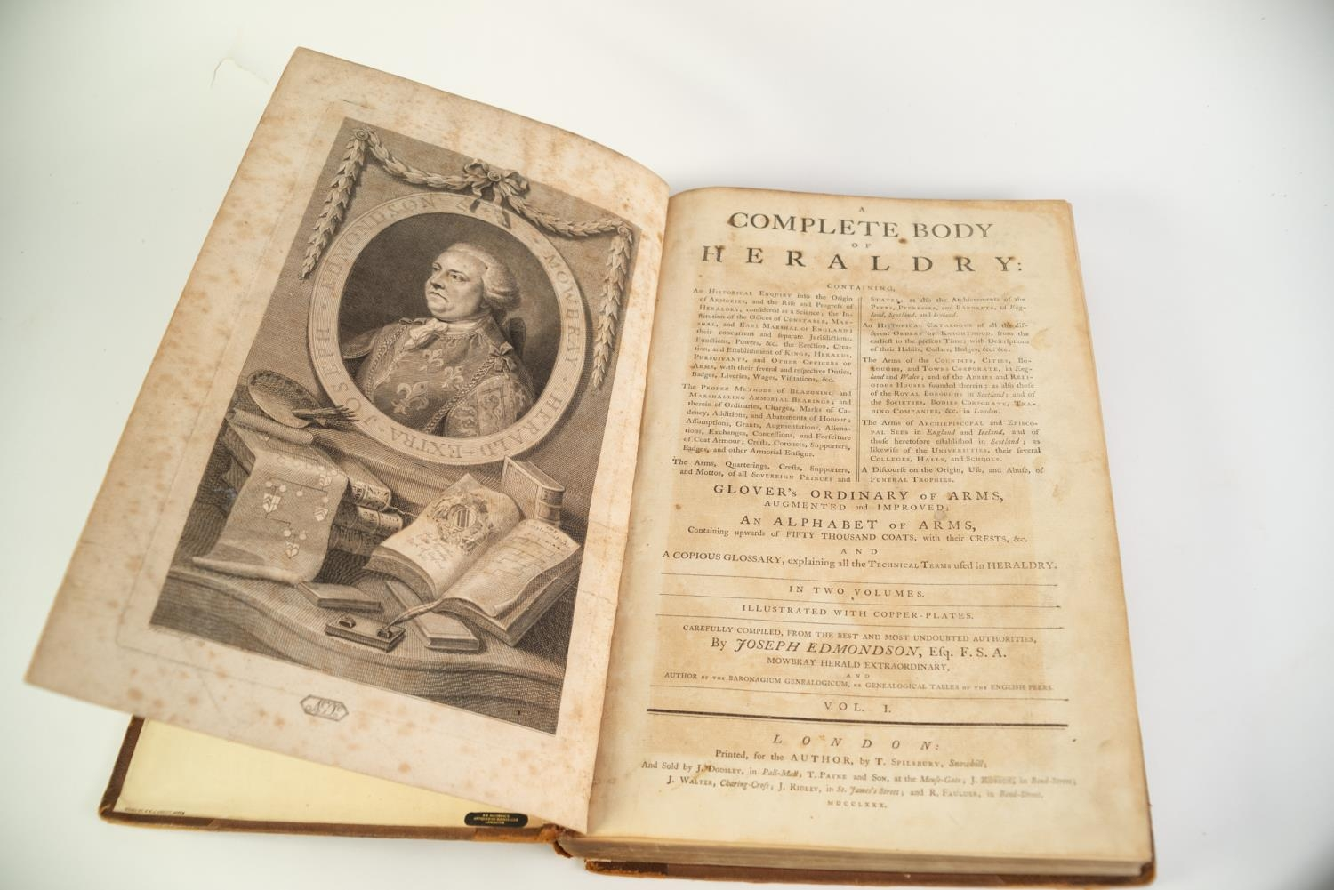 Joseph Edmondson- A Complete Body of Heraldry, 2 vol, folio, London, printed for the Author by T - Image 5 of 7