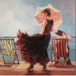 *MARK SPAIN (b.1962) ARTIST SIGNED LIMITED EDITION COLOUR PRINT Dancing on the Deck, (66/195) no