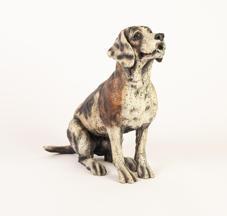 APRIL SHEPHERD (TWENTIETH/ TWENTY FIRST CENTURY) LIMITED EDITION RESIN MODEL OF A DOG ?Paying