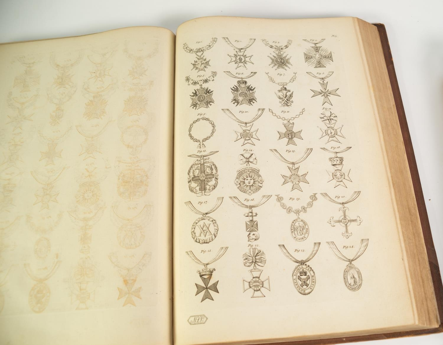 Joseph Edmondson- A Complete Body of Heraldry, 2 vol, folio, London, printed for the Author by T - Image 7 of 7