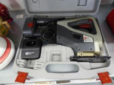 A CORDLESS ELECTRIC JIG-SAW IN CASE