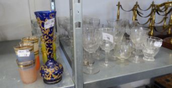 A GOOD SELECTION OF EDWARDIAN AND OTHER DRINKING GLASSES ETC....
