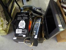 PHILIPS 3000 ELECTRIC FAN HEATER AND A SHARPS STEREO PORTABLE RADIO, A PANASONIC CD PLAYER, AURITONE