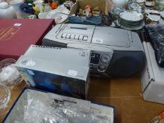 BOXED PAIR OF SENNHEISER HD 420 SL STEREO HI-FI HEADPHONES (FOAM PADDING PERISHED) AND A SONY FM