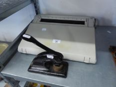 SMITH CORONA ELECTRIC TYPEWRITER AND A PAPER EMBOSSING PRESS (2)