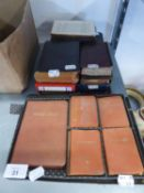 FIVE SMALL REFERENCE BOOKS; ?WORLD ATLAS? AND FOUR LANGUAGE DICTIONARIES; VICTORIAN AND LATER