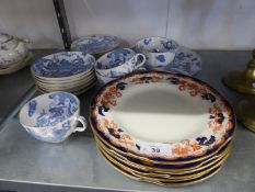 ROYAL WORCESTER CHINA PART TEA SERVICE FOR SIX PERSONS, 17 PIECES, WITH ORIENTAL DRAGON DESIGN (3