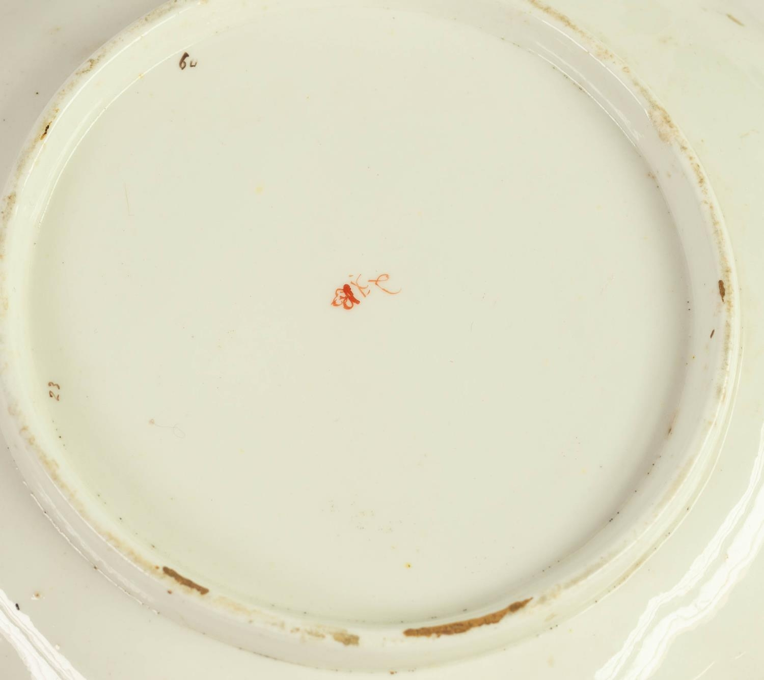 PAIR OF NINETEENTH CENTURY DERBY PORCELAIN DESSERT DISHES, each with lobated rim and floral - Image 2 of 3