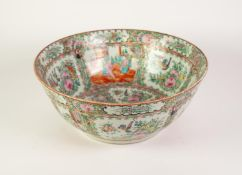 TWENTIETH CENTURY CHINESE FAMILLE ROSE PORCELAIN ROSE BOWL, of slightly flared, footed form,