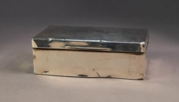 EDWARD VIII SILVER CLAD TABLE CIGARETTE BOX, of typical form, with engine turned slightly domed