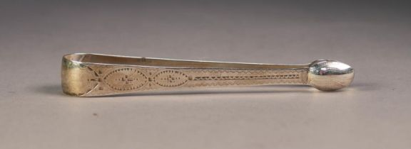 GEORGE III SILVER SUGAR BOWS, with bright cut and wriggle engraving, London 1799, 1oz