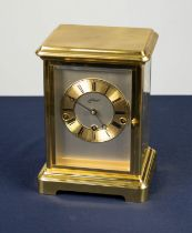 SCHMID, GERMAN FOUR GLASS MANTEL CLOCK, with 8 days movement striking and chiming on eight graduated