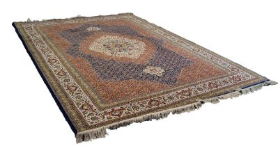 WILTON CARPET of Persian 'Sarab' intricate design, having large centre medallion with pendants in
