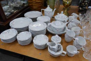 WINTERLING BAVARIAN CHINA DINNER SERVICE (OVEN TO TABLE WARES) FOR TWELVE PERSONS, VIZ 12 DINNER