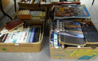 LARGE QUANTITY OF MIXED NON FICTION AND FICTION TITLES, VARIOUS ERAS, AUTHORS AND SUBJECT MATTER,
