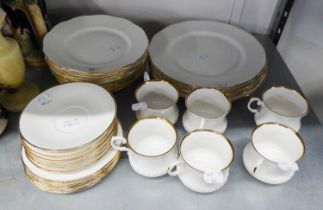SANDRINGHAM FINE ENGLISH WHITE AND FLUTED BONE CHINA DINNER AND TEA SERVICE FOR SIX PERSONS, 36