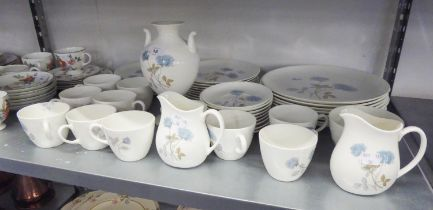 A MODERN WEDGWOOD BONE CHINA 49 PIECE 'ICE ROSE' PATTERN DINNER AND TEA SERVICE ALSO A MATCHING