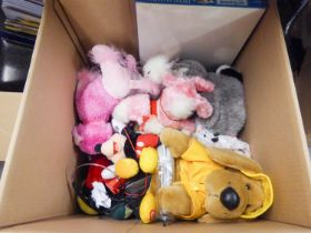 LARGE QUANTITY OF MISC ITEMS TO INCLUDE; CHRISTMAS DECORATION'S, SOFT TOYS, STATIONARY ETC... (3