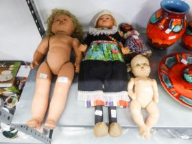 FOUR POST WAR PLASTIC AND COMPOSITION DOLLS (4)
