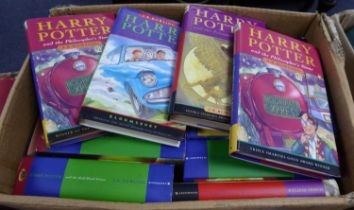 J K Rowling- A quantity of Harry Potter Hard back titles to include Philosophers Stone, 28th