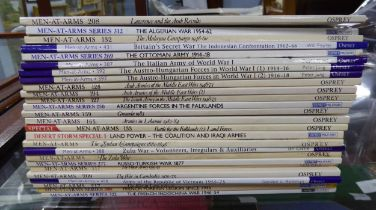 Military History. A quality selection of 28 Osprey Publishing Men-at-Arms military paperbacks to