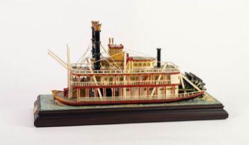 HOWARD GORST (b.1955) DETAILED AND PAINTED CERAMIC MODEL Paddle Steamer, Kersal Belle, 1992