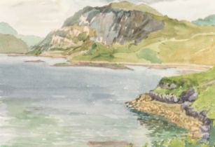 IAN GRANT (1904 - 1993) WATERCOLOUR DRAWING Scottish Loch Signed lower right and labelled verso 10in