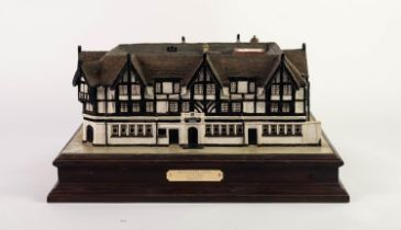 HOWARD GORST (b.1955) DETAILED, PAINTED AND ILLUMINATING CERAMIC MODEL Race Course Hotel, Salford