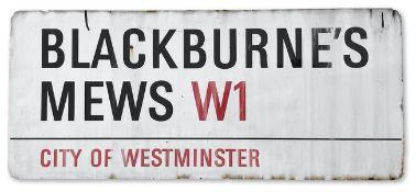 Blackburne's Mews W1