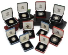 Royal Mint- A collection of silver proof coins