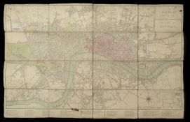 A New Plan of London, Westminster and Southwark; 1810' a folding map