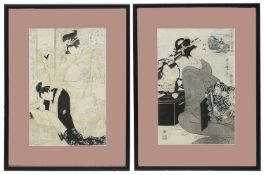 Two early 20th century Japanese woodblock prints
