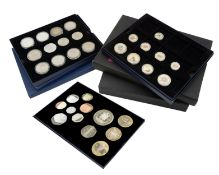 Royal Mint - Silver and other proof coin sets