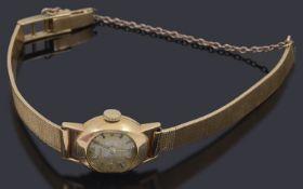 A lady's yellow gold wrist watch by Adar,